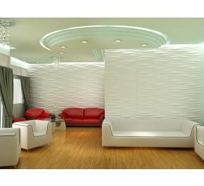 3D Reliefplatten | Wandplatten | Designplatten - Wohnzimmer / Interior Design INREDA 2