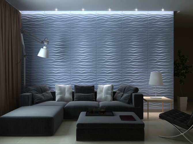 3D Wandpaneele | Wohnungs-Design | Wandverkleidung - Dekor BEACH ...