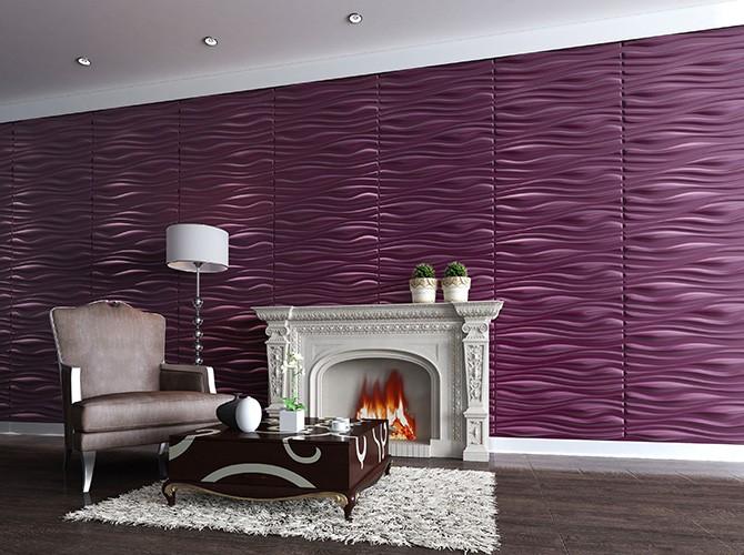 3d wandpaneele   wohnungs-design   wandverkleidung - dekor inreda, Wohnzimmer