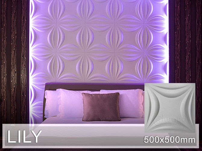 3d wandpaneele wandplatten wandverkleidung lily 3d. Black Bedroom Furniture Sets. Home Design Ideas